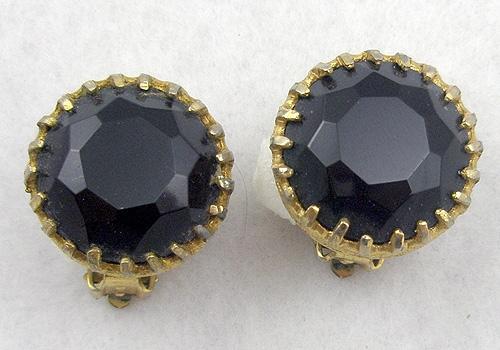 Earrings - Black Rhinestone Earrings