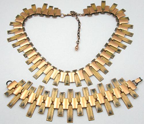 End of Year Sale! 30-50% OFF - Enameled Copper Necklace & Bracelet Set