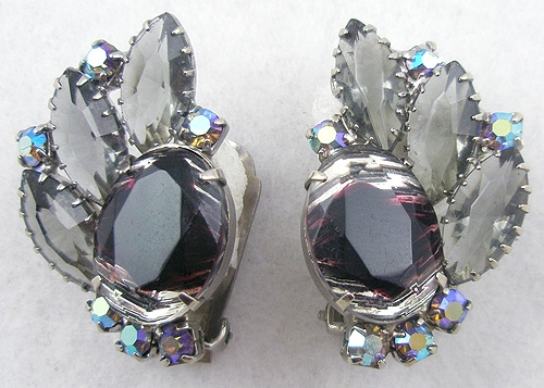 Winter Colors Jewelry - Givre Glass Black Diamond Earrings