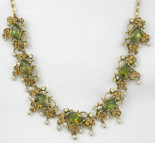 Florenza - Florenza Peridot & Topaz Rhinestone Necklace