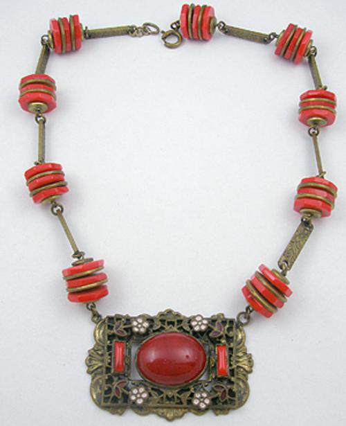 Necklaces - Czech Red Glass Necklace