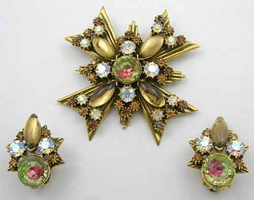 Maltese Crosses - Florenza Maltese Cross Brooch Set