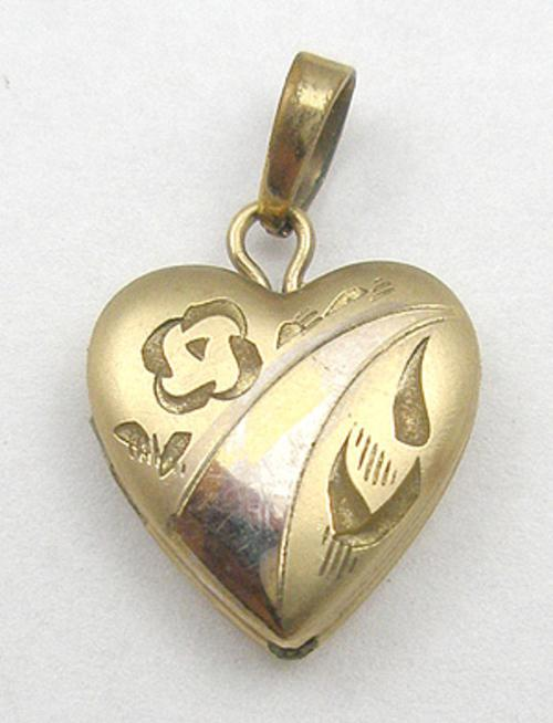 Hearts - Tru-Kay Gold Filled Heart Locket