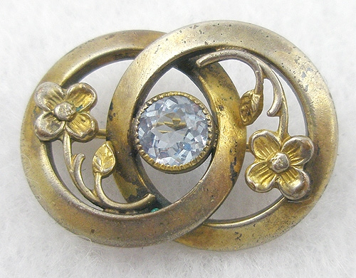 $25 or Less - Brass Alexandrite Collar Pin