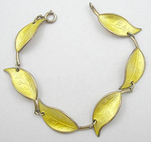 Bracelets - David Andersen Yellow Leaves Bracelet