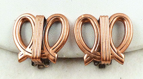 Renoir/Matisse - Renoir Copper Double Loop Earrings