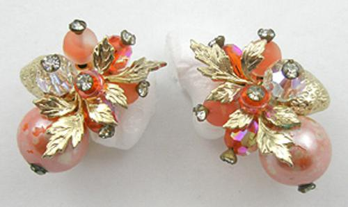 End of Year Sale! 30-50% OFF - Vendome Orange Bead Earrings