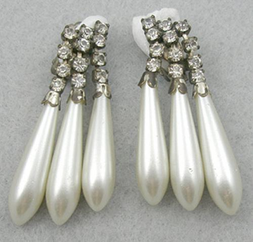 Newly Added Rhinestone Pearl Drop Earrings