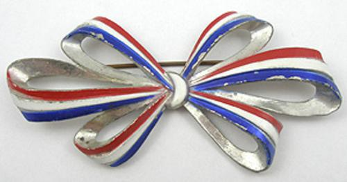 Newly Added Patriotic Bow Brooch