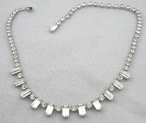 Weiss - Weiss Rhinestone Baguette Necklace