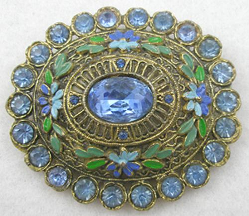 Brooches - Little Nemo Enameled Flowers Brooch