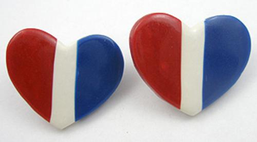 Hearts - Patriotic Heart Earrings