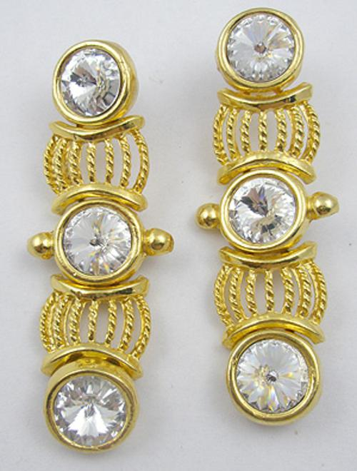 Newly Added Rivoli Rhinestone Earrings