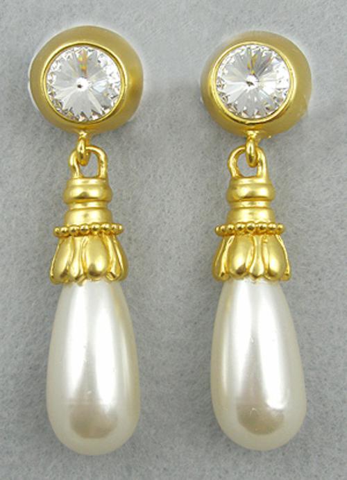 Earrings - Chunky Faux Pearl Drop Earrings