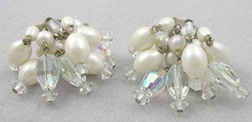 Laguna - Laguna Pearl Crystal Bead Dangle Earrings
