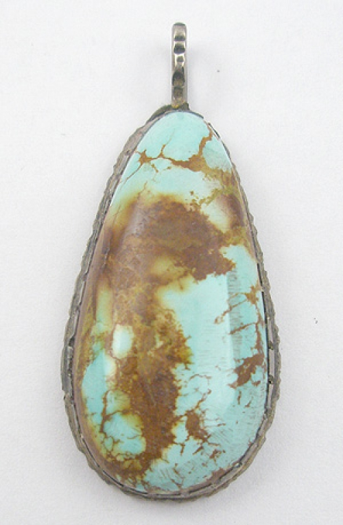 Native American - Native American Turquoise Pendant