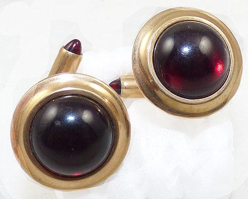 Krementz - Kementz Ruby Glass Cufflinks