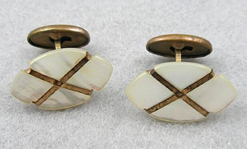 Men's Jewelry - Victorian Mother-of-Pearl Cufflinks