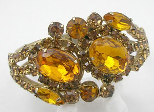 Newly Added Topaz Rhinestone Hinged Bracelet