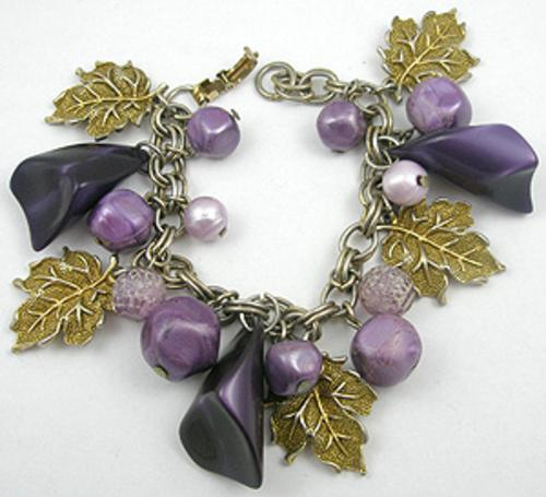 Bracelets - Purple Moonglow Charm Bracelet