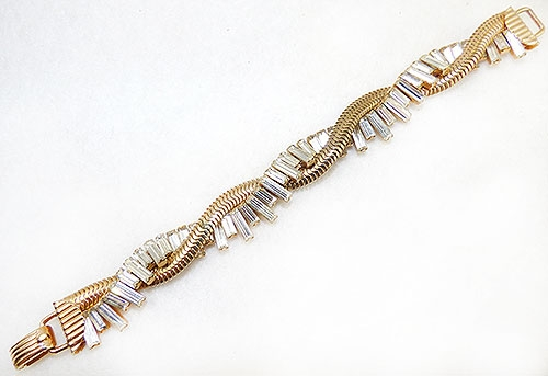 Newly Added Napier Rhinestone Baguette Bracelet