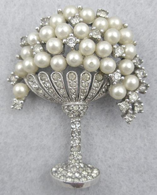 Newly Added Jomaz Pearl Grapes in Rhinestone Compote