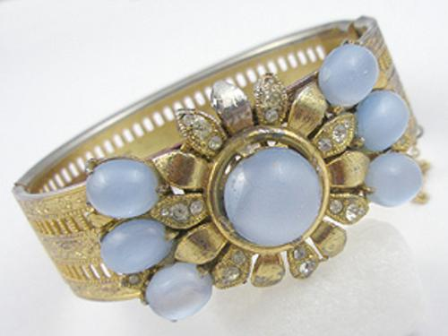 Newly Added Retro Blue Glass Moonstone Bracelet