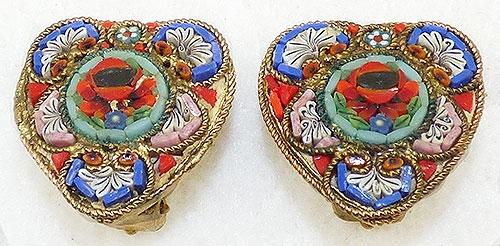 Italy - Italian Mosaic Heart Earrings