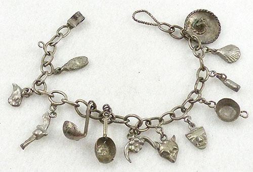 Charm Jewelry - Vintage Cowboy Charm Bracelet