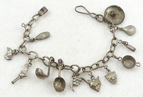 Bracelets - Vintage Cowboy Charm Bracelet