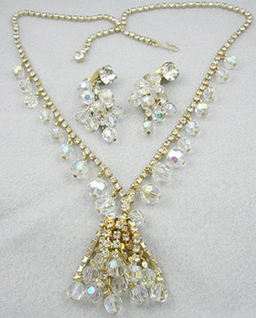 Sets & Parures - DeLizza and Elster Crystal  Rhinestone Necklace Set