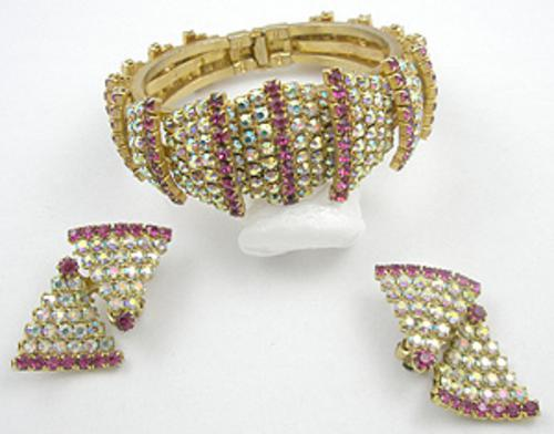 Schiaparelli - Schiaparelli Hinged Bracelet & Earrings Set
