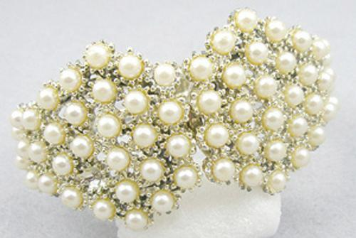 Newly Added Faux Pearl Hinged Bracelet