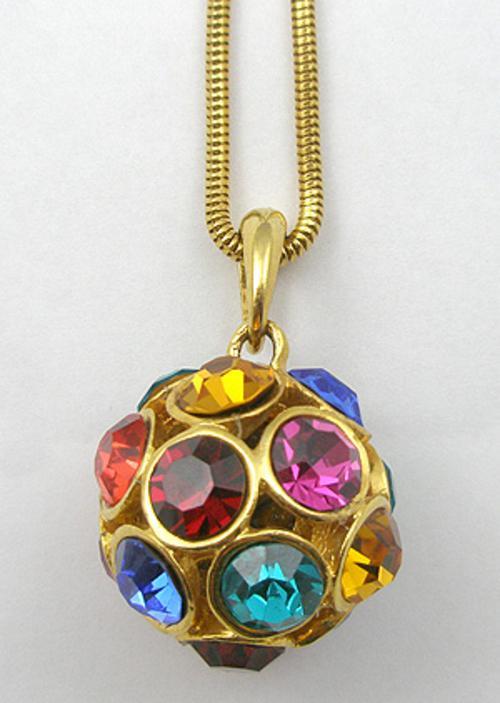 Necklaces - Rhinestone Sphere Pendant