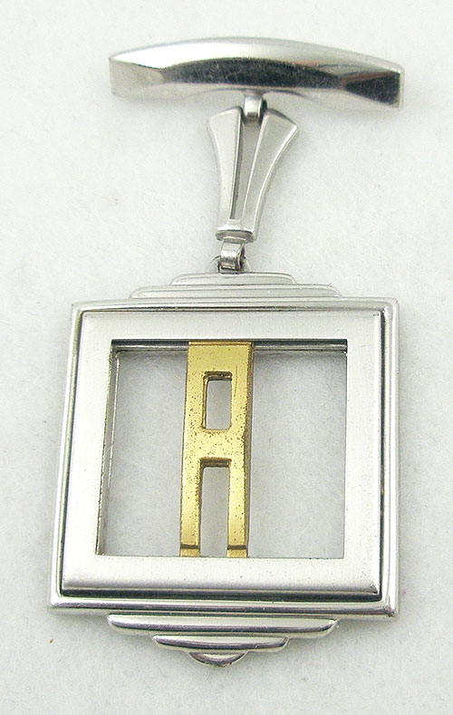 Monet - Monocraft Art Deco Initial 'A' Brooch