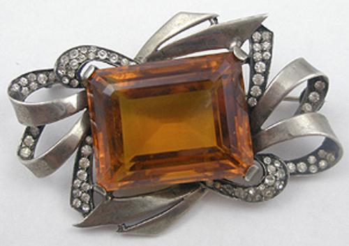 Newly Added Boucher Smoked Topaz Sterling Brooch