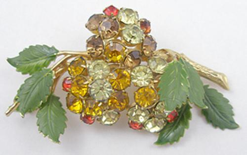 Newly Added Hobé Rhinestone Floral Brooch