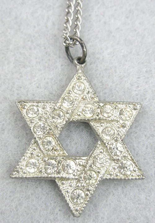 Jewish Jewelry - Rhinestone Star of David Pendant
