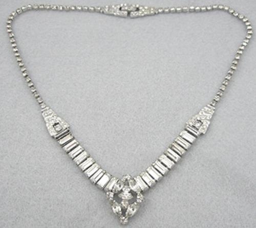 Misc. Signed M-R - Phyllis Sterling Rhinestone Necklace