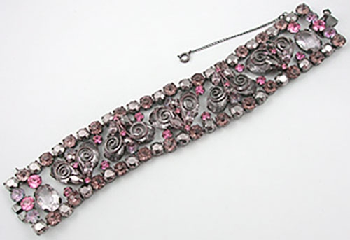 Schreiner - Schreiner Pink & Lavender Rhinestone Bracelet