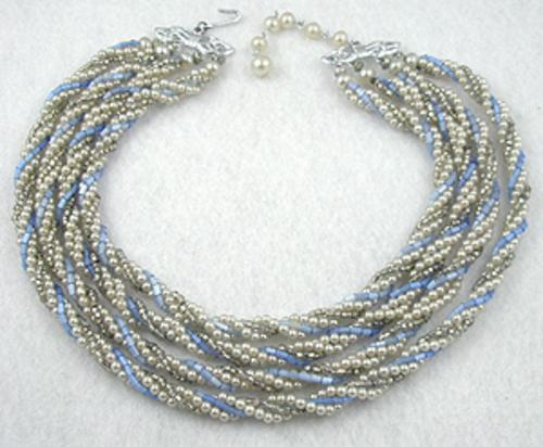 Necklaces - Japan Faux Pearl Twist Necklace