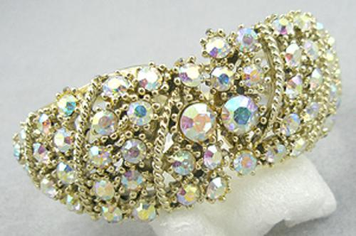 Newly Added Crystal Aurora Clamper Bracelet