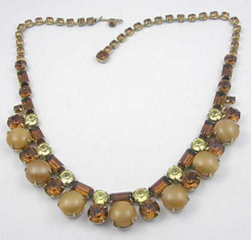 Necklaces - Mocha Glass Moonstone Necklace