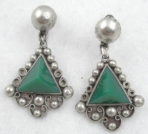 Earrings - Mexican Green Onyx Earrings
