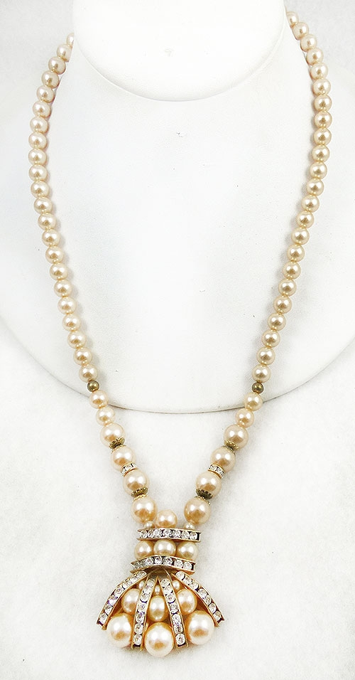 Newly Added Vintage Faux Pearl Necklace