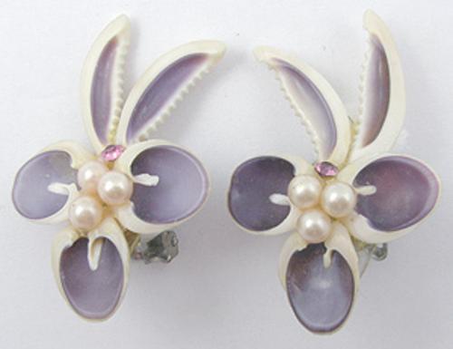 Earrings - Enameled Seashell Earrings
