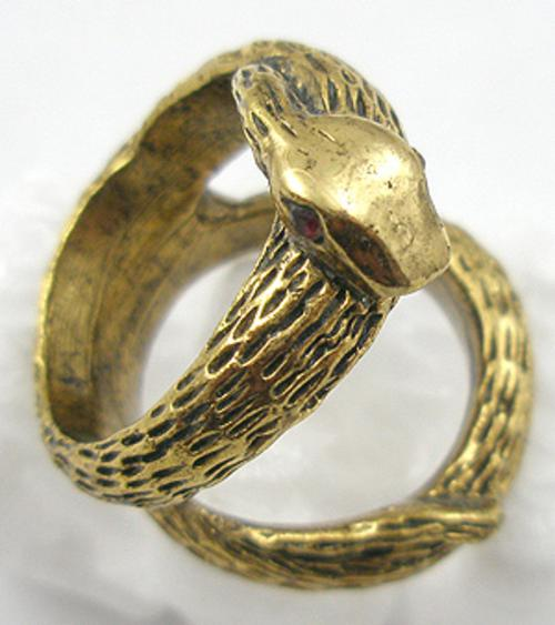 Figural Jewelry - Snakes Turtles Reptiles - Karma Snake Ring