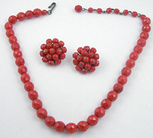Laguna - Laguna Red Glass Bead Necklace Set