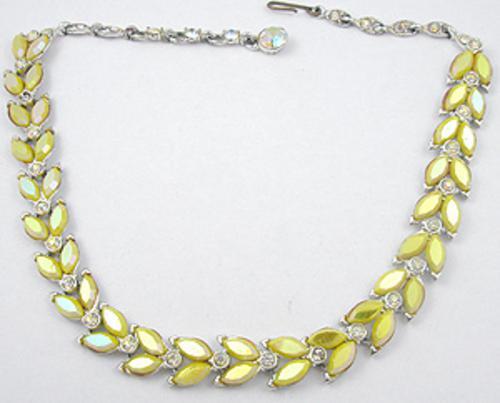 Necklaces - Yellow Aurora Rhinestone Necklace
