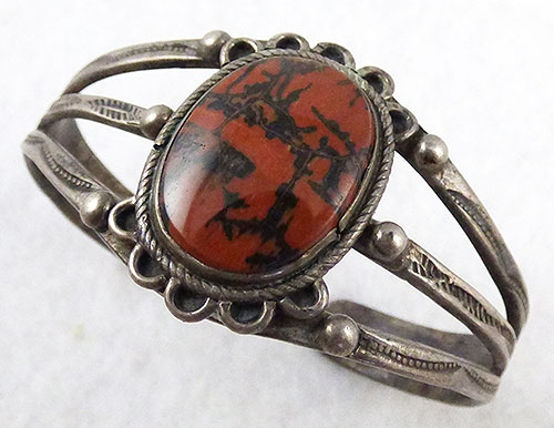 Native American - Navajo Petrified Wood Agate Bracelet